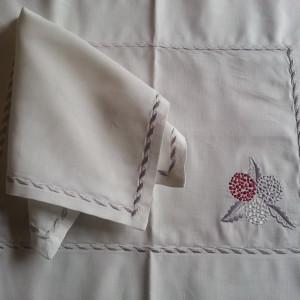 placemat linen hortensia
