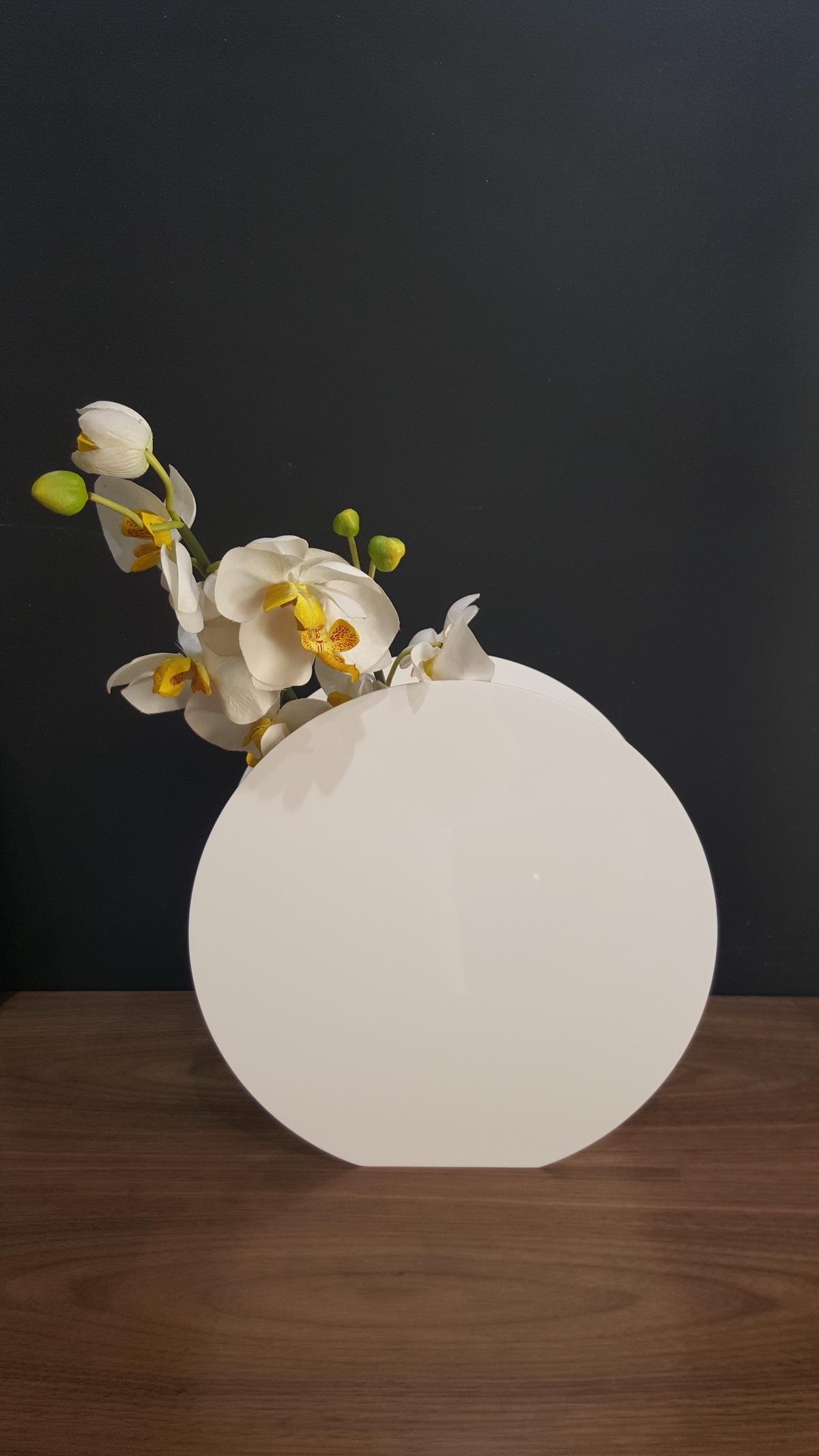 vase round effet design. Black Bedroom Furniture Sets. Home Design Ideas